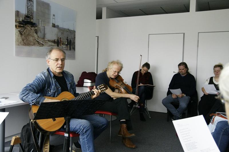 Duo Grenszland beim Workshop in Hoyerswerda 2015, Foto: Hoffmeister
