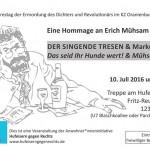 Eine Hommage an Erich Mühsam – Lesung und Konzert