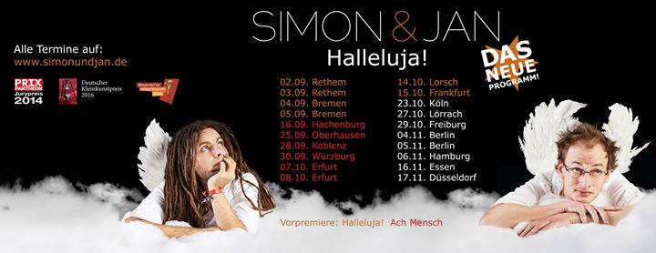 Simon & Jan – Halleluja!***Premiere***live in Köln